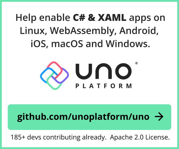 Uno Platform - Apache 2.0!