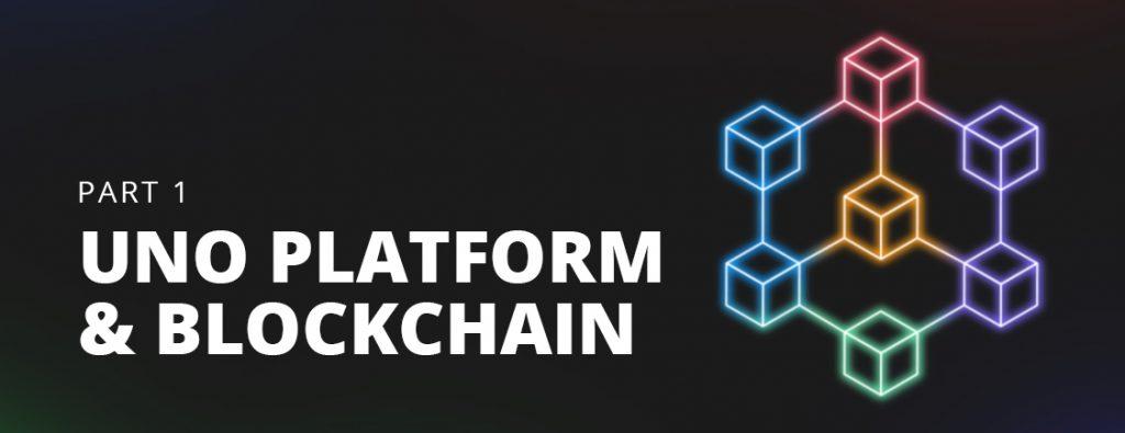 using blockchain and uno platform